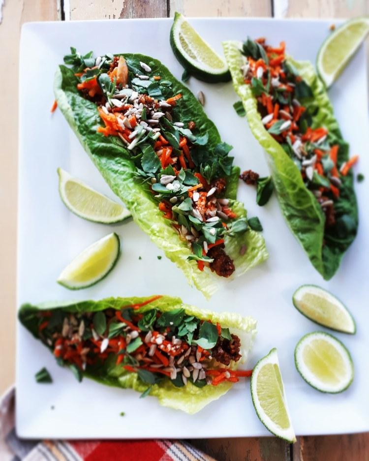 Wrap de tempeh à la sauce hoisin