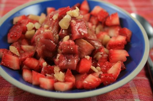 Salsa et compote rhubarbe